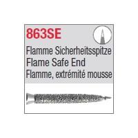 863SE - Flamme, extrémité mousse