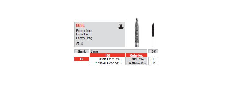 863L - Flamme, long