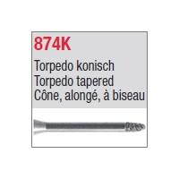 874K - Cône, alongé, à biseau