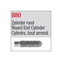 880 - Cylindre, bout arrondi