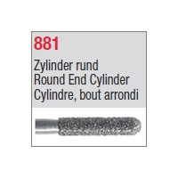 881 - Cylindre, bout arrondi