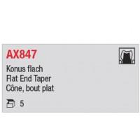 AX847 - cône long, bout plat