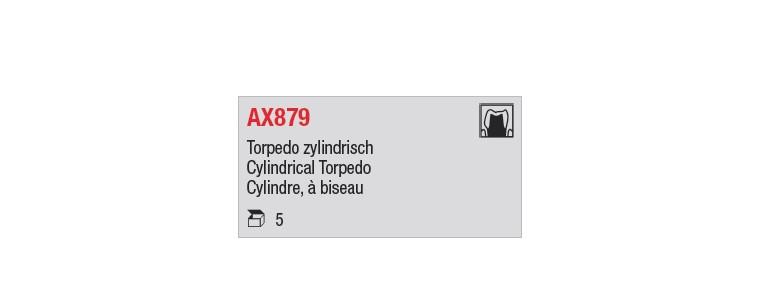 AX879 - cylindre long, à biseau