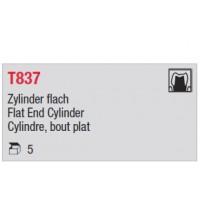 T837 - cylindre moyen, bout plat