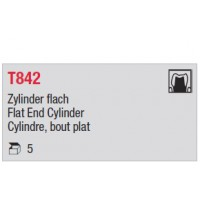 T842 - cylindre long, bout plat