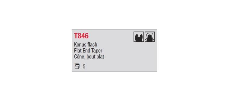 T846 - cône court, bout plat
