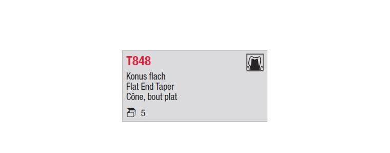 T848 - cône moyen, bout plat