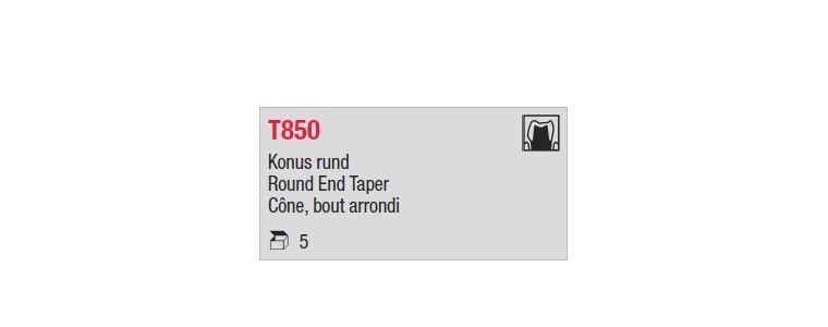 T850 - cône long, bout arrondi