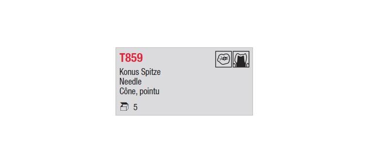 T859 - cône pointu