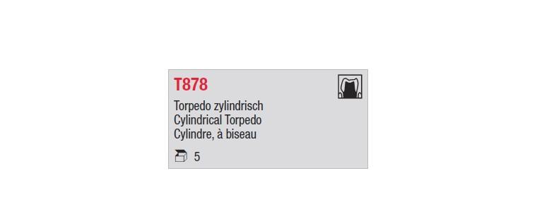 T878 - cylindre court, à biseau