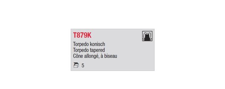 T879K - cône long, à biseau