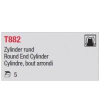 T882 - cylindre moyen, bout arrondi