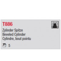 T886 - cylindre, bout pointu