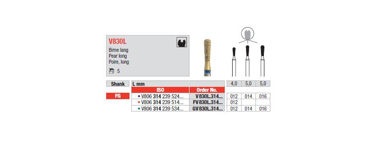 V830L - Poire, long