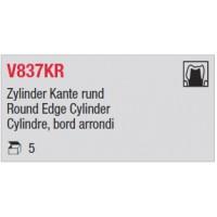 V837KR - Cylindre, bord arrondi
