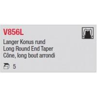 V856L - Cône, long bout arrondi