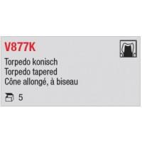 V877K - Cône allongé, à biseau