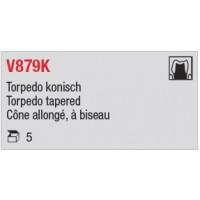 V879K - Cône allongé, à biseau