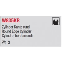 W835KR - Cylindre, bord arrondi