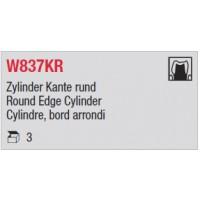 W837KR - Cylindre, bord arrondi