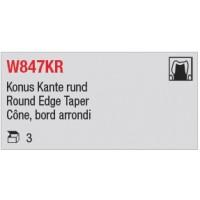 W847KR - Cône, bord arrondi