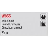 W855 - Cône, bout arrondi