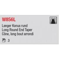 W856L - Cône, long bout arrondi