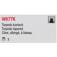 W877K - Cône, allongé, à biseau