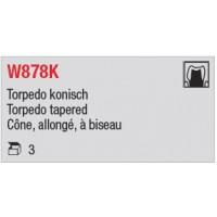 W878K - Cône, allongé, à biseau