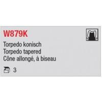 W879K - Cône allongé, à biseau