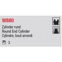 W880 - Cylindre, bout arrondi