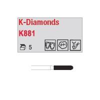 K881 - cylindre, bout arrondi