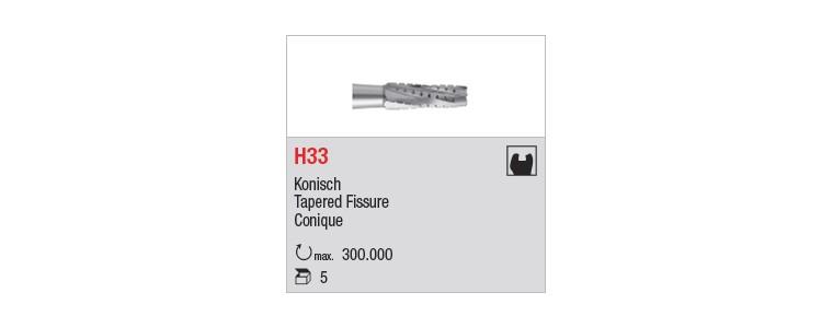 H33 - denture croisée standard