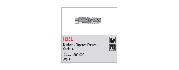 H33L - denture croisée longue