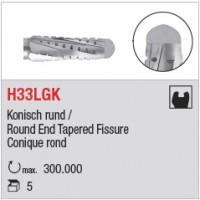 H33LGK - denture croisée longue, bout rond