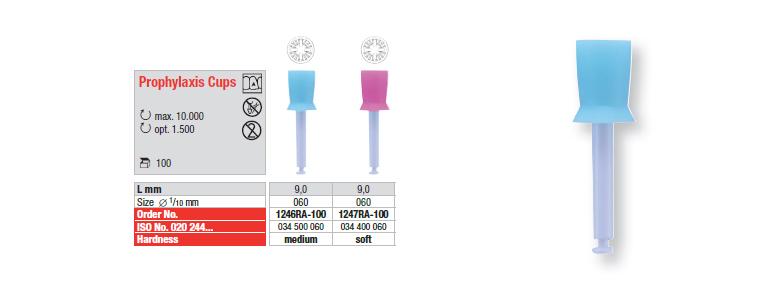 Prophylaxis Cups - mandrin plastique