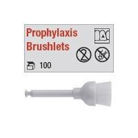 Prophylaxis Brushlets - mandrin plastique.
